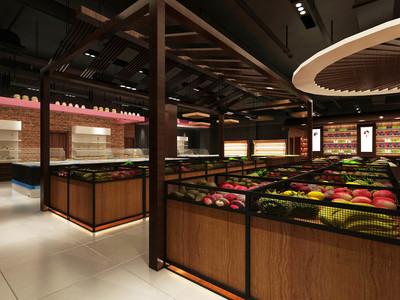 漯河物美廉超市装修设计案例