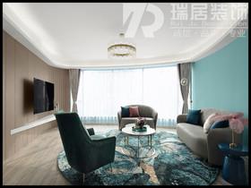 [瑞居装饰]东方龙城107平现代风格装修效果图案例