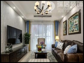 [瑞居装饰]柏庄观邸88平美式风格装修效果图案例