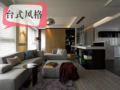 大理泰業國(guo)際廣(guang)場-台式風格三室一廳(ting)裝修設計案例