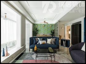 [瑞居装饰]华仑港湾124平北欧风格装修效果图案例