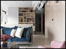 [瑞居装饰]信达蓝湖郡105平现代简约风格装修效果图案例