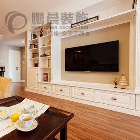 [鹏晨装饰]世茂滨江花园二期129平美式风格装修效果图