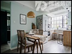 [瑞居装饰]左岸生活84平北欧风格装修效果图案例