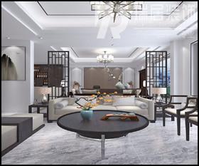 [瑞居装饰]华强颐景湾畔145平新中式风格装饰案例