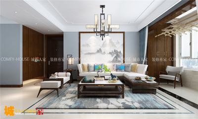 濟南財富壹號融悅135平四室兩廳裝修效果圖裝修設計案例