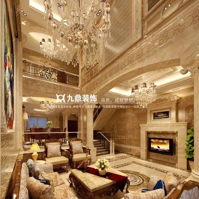 万科别墅奢华欧式风1200㎡别墅欧式风格装修案例