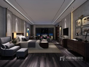 深圳1800㎡中式风格装修效果图