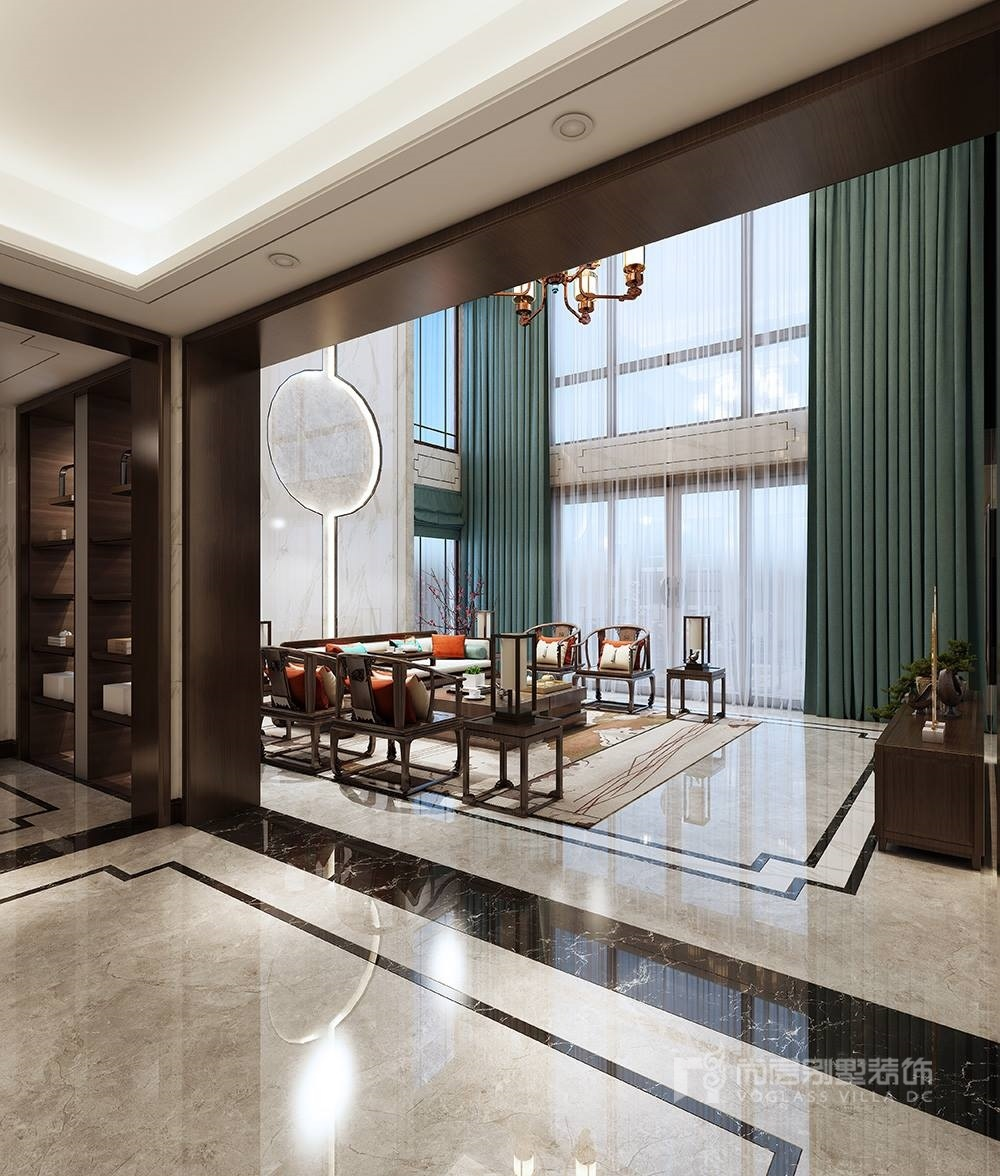 广州花都南航碧华园--新中式风格中式风格装修效果图