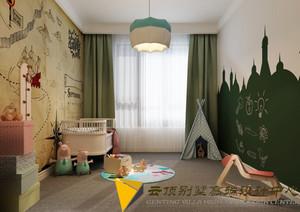 青岛200㎡美式风格装修效果图