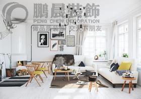 [鹏晨装饰]世茂滨江花园二期99平现代风格装修效果图装修设计案例
