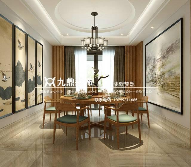 福州九鼎装饰梅岭观海200㎡普通户型中式风格装修案例