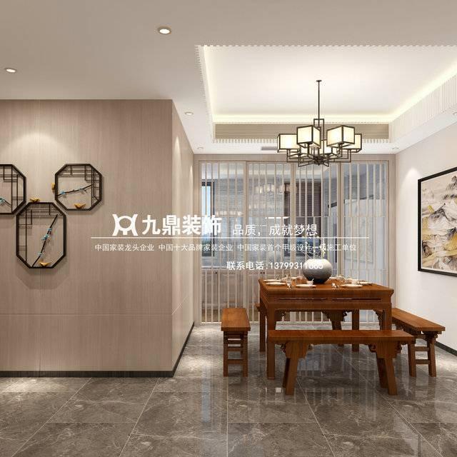 福州九鼎装饰印象外滩220㎡普通户型中式风格装修案例