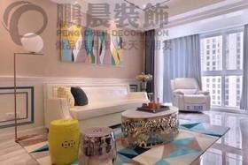 [鹏晨装饰]东方蓝海 115平欧式风格装修效果图装修设计案例