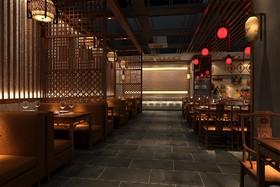 老火锅店--新中式装修设计案例
