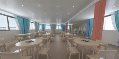 泗县幼儿园多功能厅装修设计案例