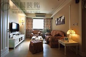 [鹏晨装饰]东方龙城采薇苑89平古典装饰效果图装修设计案例