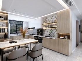 恒大岷江新城 现代四居室144㎡  16.5万装修设计案例