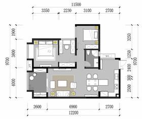 通和易居7#2603装修设计案例