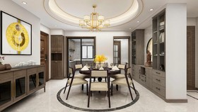 功德小区  新中式四居室 139㎡ 15.9万装修设计案例