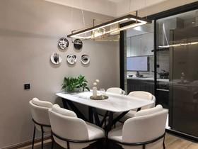 御锦城9期  现代三居室120㎡ 13.8万装修设计案例