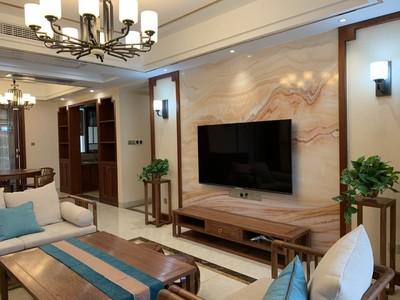湘潭上層國際 新中式 四室兩廳裝修效果圖裝修設計案例
