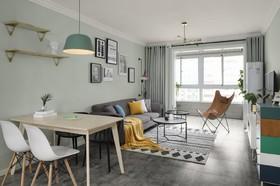 秦川厂30街坊  北欧二居室90平10.8万装修设计案例