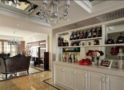 湘潭湘潭装修金芙蓉 客厅酒柜装修效果 别致精美的客厅风情装修设计案例