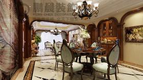 [鹏晨装饰]碧桂园塘溪源著125平美式风格装修效果图装修设计案例