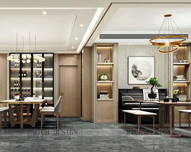兰江山第230㎡别墅中式风格装修案例