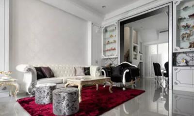 湘潭天元湘江国际 欧式客厅装修案例效果装修设计案例