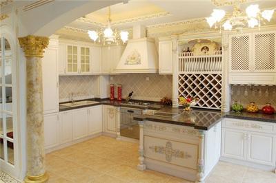 湘潭东方名苑二期 欧式厨房装修设计效果装修设计案例