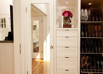 进门鞋柜这么做 让家倍有面子