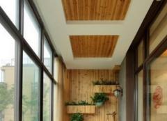 塑木型材阳台吊顶特点 阳台就是要这么惬意!