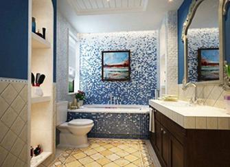 地中海风格浴室特点 地中海风格浴室设计说明 地中海风格浴室装修效果案例
