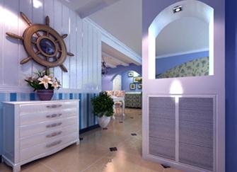 地中海风格玄关设计特点 地中海风格玄关设计说明 地中海风格玄关装修效果图案例