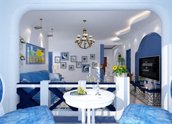 地中海风格吊顶设计特点 地中海风格吊顶设计说明 地中海风格吊顶装修效果图案例