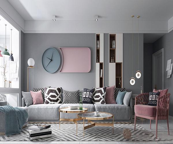 客廳壁紙應選什么顏色