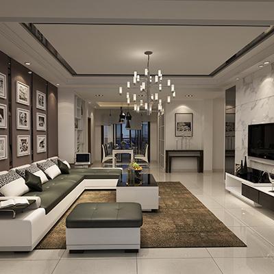客厅现代电视柜100平米装修
