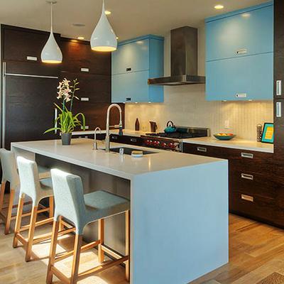 厨房现代吧台大户型装修