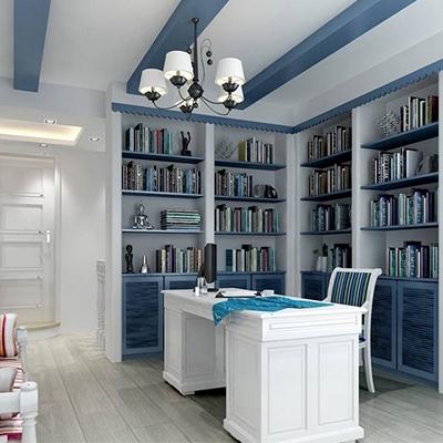 书房地中海局部复式装修