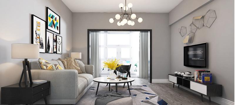 現代簡約風格,客廳案例展示
