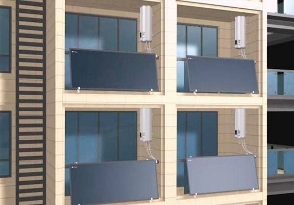 阳台壁挂太阳能热水器效果图