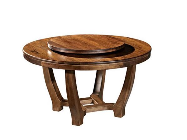 实木圆餐桌