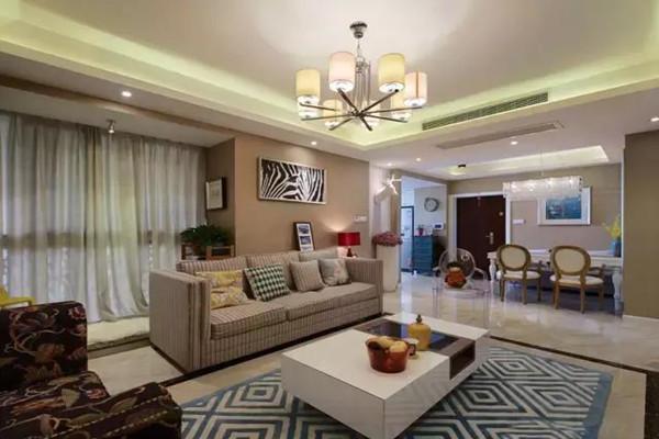 130平米自由混搭风格三居室