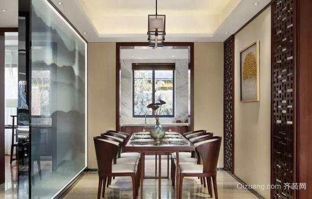 110㎡新中式风格餐厅装修设计