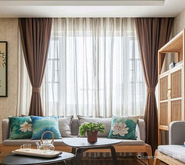 日式窗帘搭配