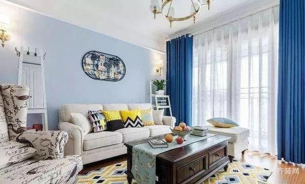 80㎡北欧风格沙发背景墙装饰