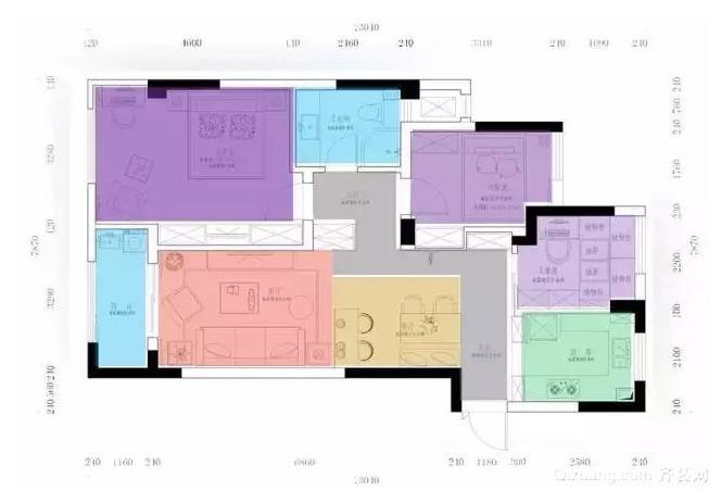 88㎡房屋平面布置图