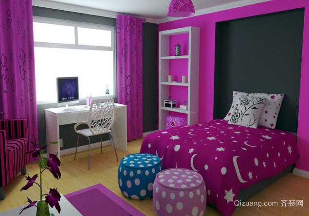 40平米婚房紫色装饰